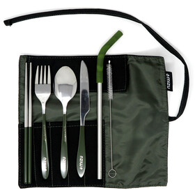 MIZU Urban Cutlery Set, Oliva/Plateado